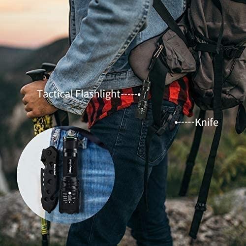 サバイバルナイフ キャンプ ナイフ 懐中電灯 500ルーメン 登山 釣り 高輝度 ハンディライト 軽量 アウトドア
