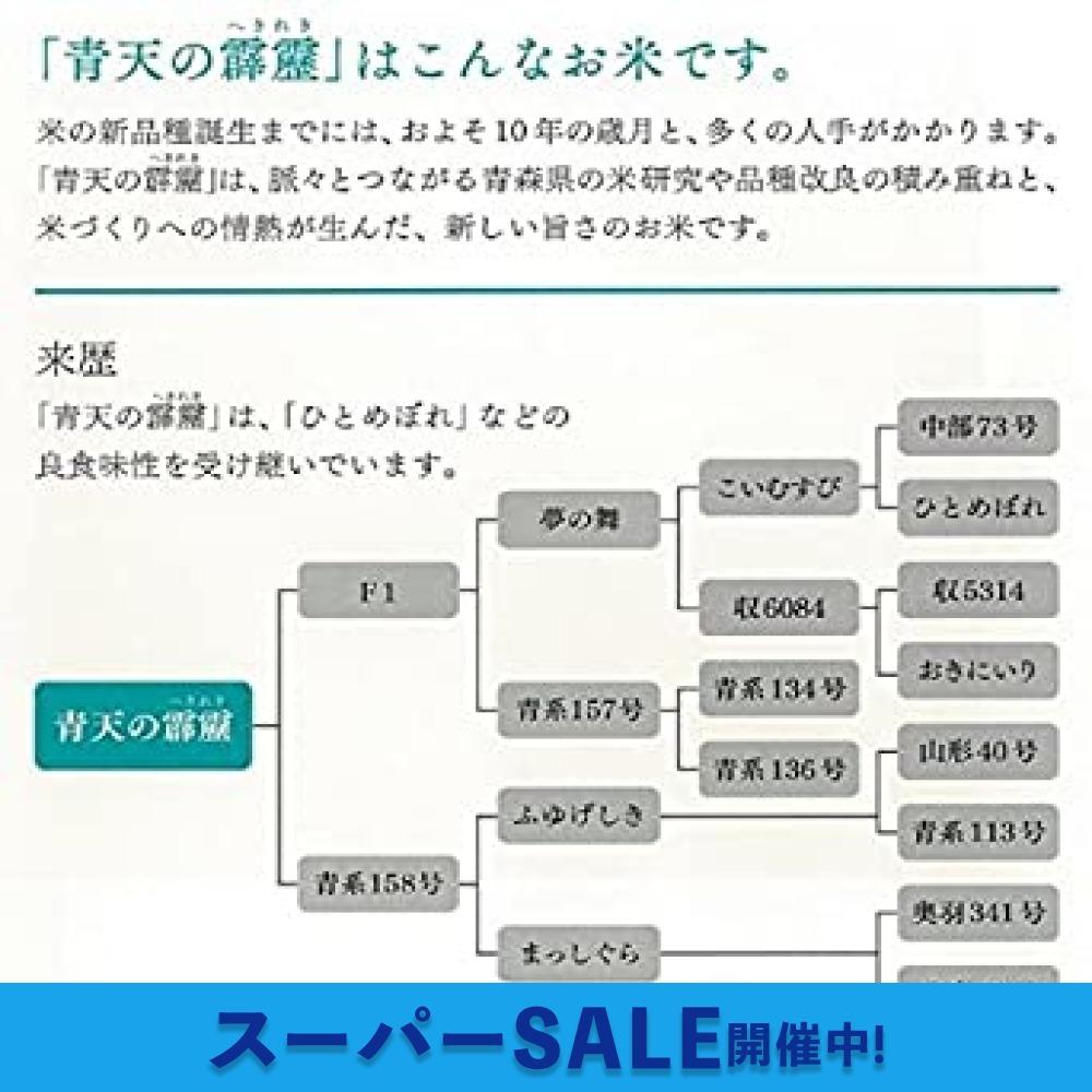 2kg 【精米】 青森県産 白米 青天の霹靂 2kg 令和2年産_画像3
