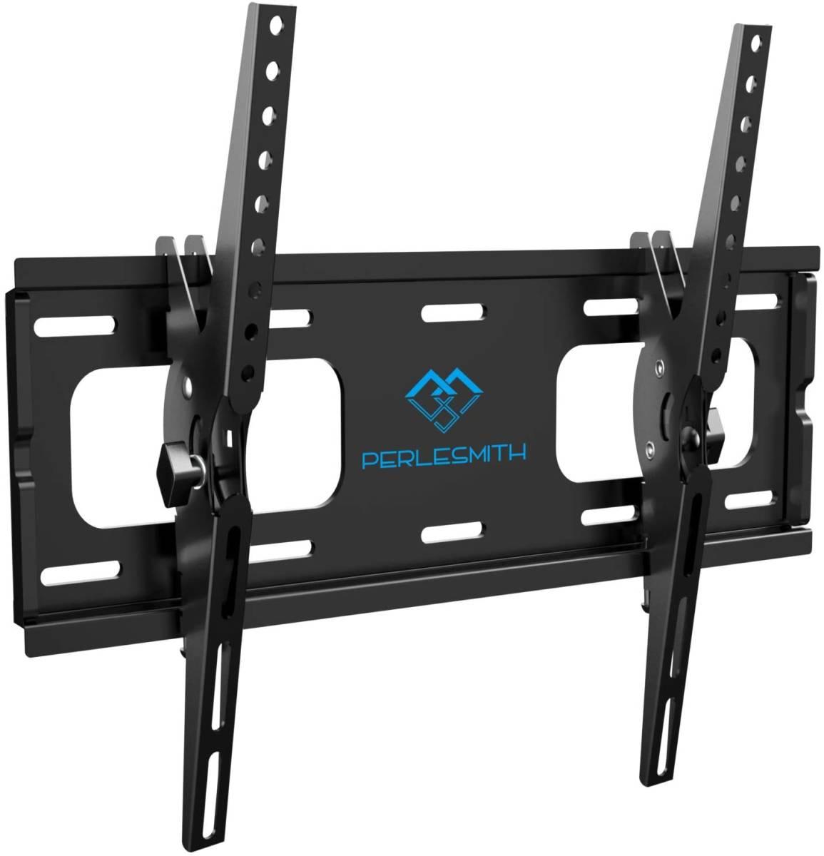 PERLESMITH テレビ壁掛け金具 26-55インチ対応 耐荷重60kg LCD LED 液晶テレビ用 ティルト±10度 VESA400x400mm (ブラック)_画像1