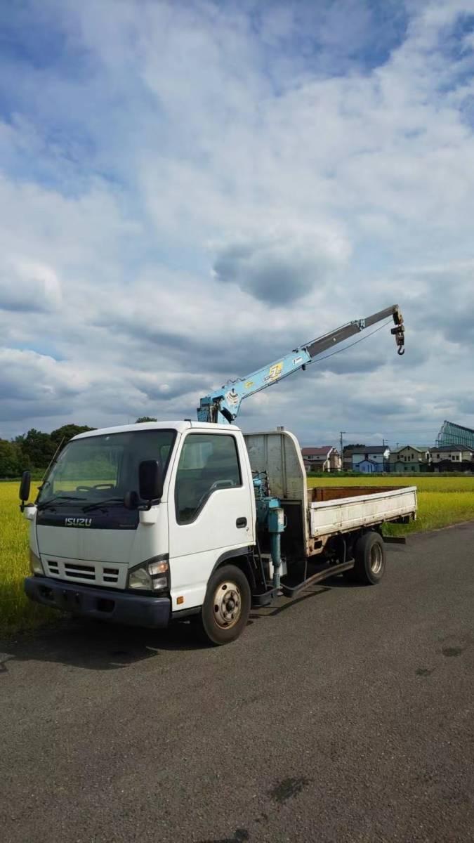 「!神奈川県!平成17年 いすゞ クレーン車 エルフ 3T 荷台内寸約190X348[cm]」の画像1