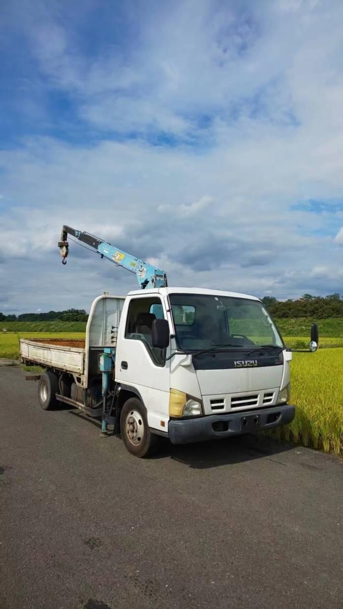 「!神奈川県!平成17年 いすゞ クレーン車 エルフ 3T 荷台内寸約190X348[cm]」の画像2