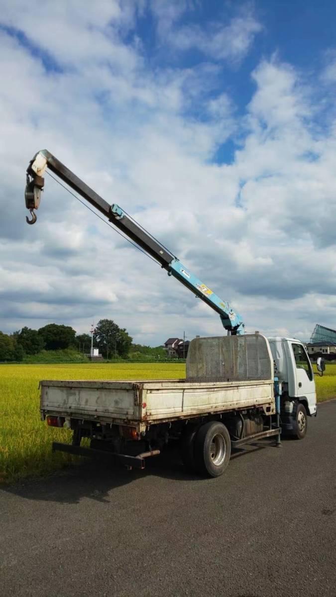 「!神奈川県!平成17年 いすゞ クレーン車 エルフ 3T 荷台内寸約190X348[cm]」の画像3