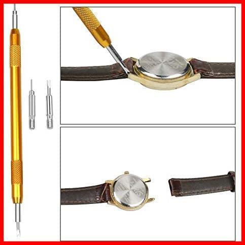 【最安】腕時計修理工具キット 腕時計ベルト調整 時計道具セット NAJAIA 時計用工具 バンド調整 収納便利 電池交換 時計修理 時計工具_画像6