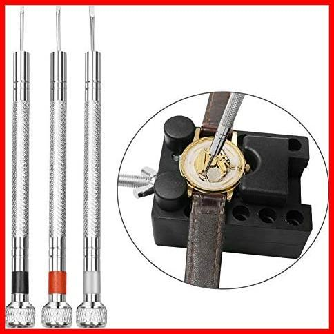 【最安】腕時計修理工具キット 腕時計ベルト調整 時計道具セット NAJAIA 時計用工具 バンド調整 収納便利 電池交換 時計修理 時計工具_画像7