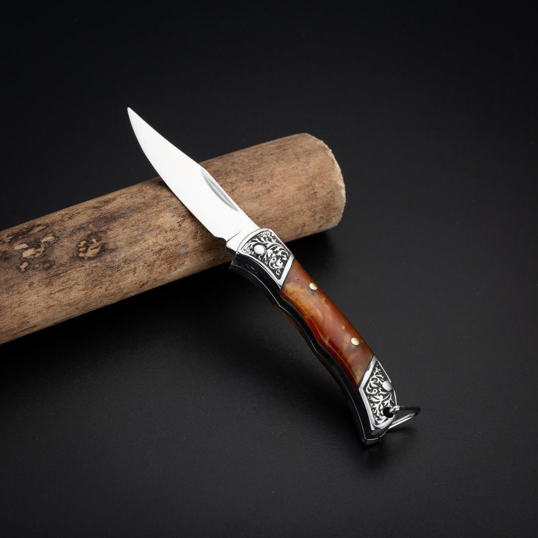 赤 アウトドア ナイフ 小型折り畳みナイフ 釣り キャンプ サバイバルナイフ ポケットフォールディングナイフ