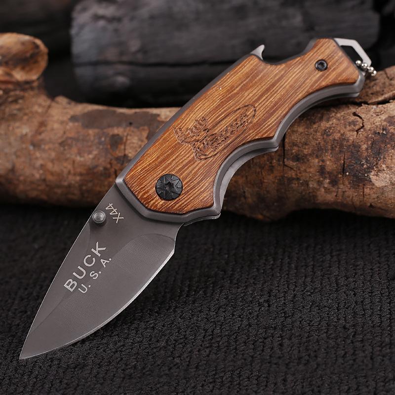 アウトドア ナイフ 折りたたみナイフ 小型ポケットフォールディングナイフX44 釣り キャンプ サバイバル