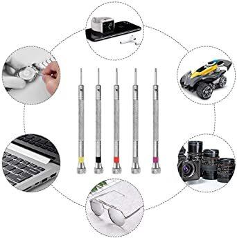 「セエダ」 精密ドライバー 腕時計 マイナス 工具セット 電池交換 ベルト調整 時計 メガネ 修理 工具 5本セット_画像7
