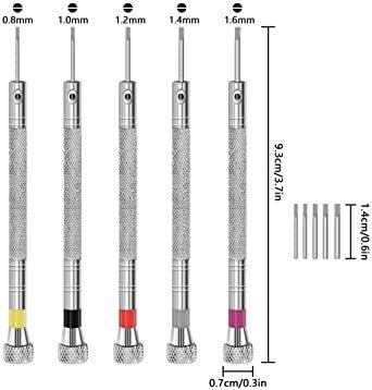 「セエダ」 精密ドライバー 腕時計 マイナス 工具セット 電池交換 ベルト調整 時計 メガネ 修理 工具 5本セット_画像2