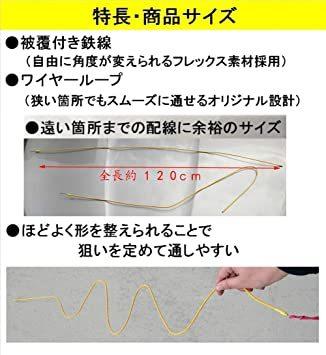 2 配線ガイドx2 配線ガイド(フレックスタイプ) 全長約1.2m & 内張りはがし ポリプロピレン製ソフトタイプ (配_画像2