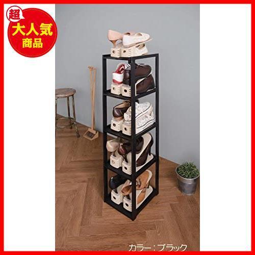 ライクイット(like-it)靴収納シューズラック スリム 5段幅23.8x奥28.5x高93cmホワイト日本製CUBE_画像4