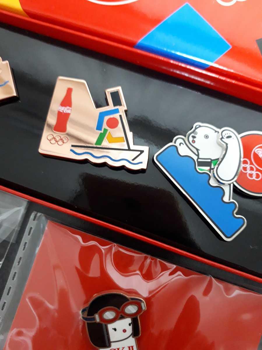 東京オリンピック ピンバッチ ピンバッジ 2020 競泳 水泳 ピンズ コカ・コーラ SK-2 GALAXY 未使用