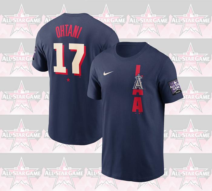 ●大谷翔平選手 MLB公認ナイキ All-Star Game 記念Tシャツ Mサイズ!_画像1