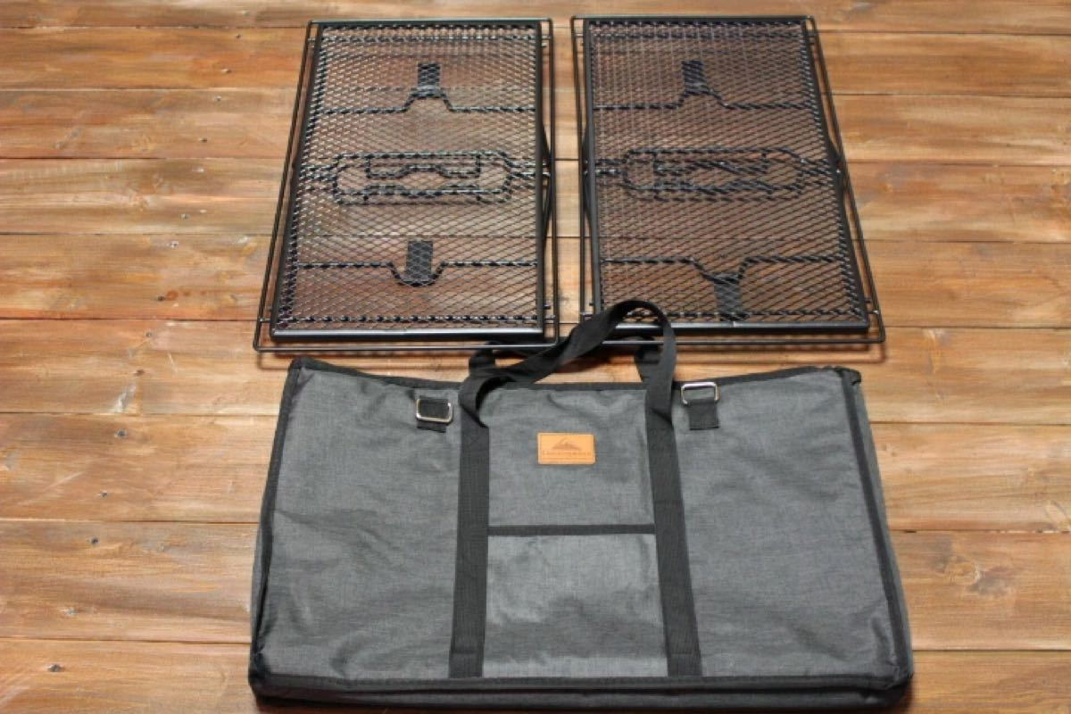 CAMPING MOON キャンピングムーン 焚火メッシュテーブル アイアンフィールドラック スタッキングラックT-238-2T