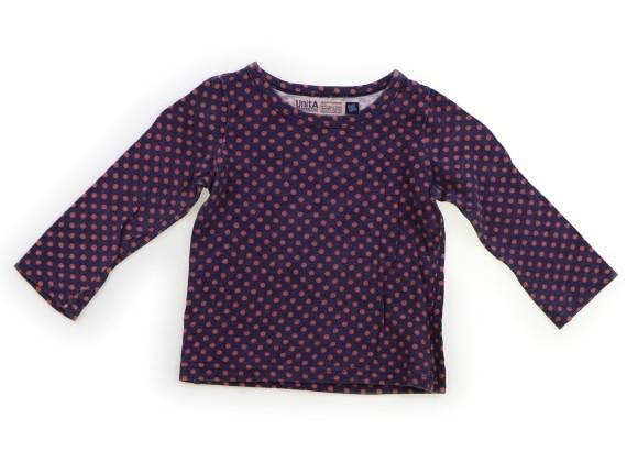 スワップミートマーケット SWAP MEET MARKET Tシャツ・カットソー 100 女の子 紫・オレンジドット柄 子供服 ベビー服 キッズ(833273)_画像1