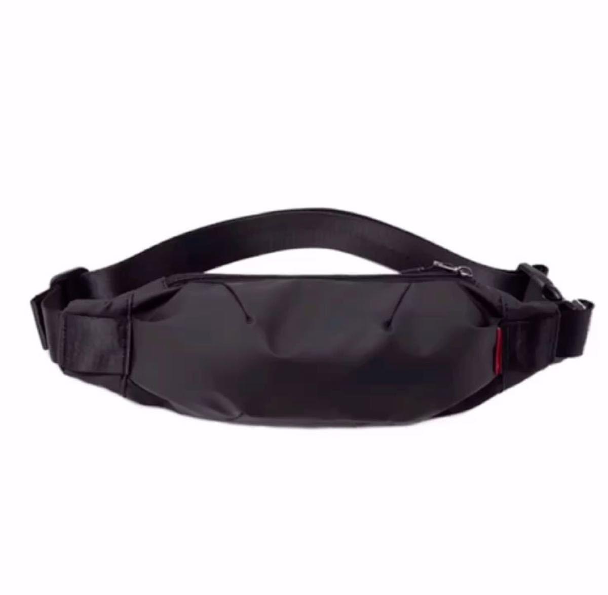 ウエストバッグ ボディバッグ ウエストポーチ ヒップバッグ 防水加工 肩掛けバック 頑丈 高品質 男女兼用 新品ブラック