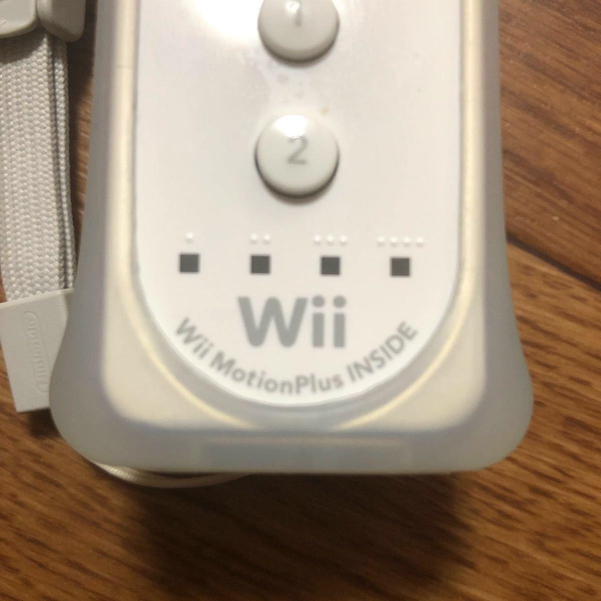 Wiiリモコンモーションプラス ヌンチャク Wiiクラシックコントローラ 白セット!
