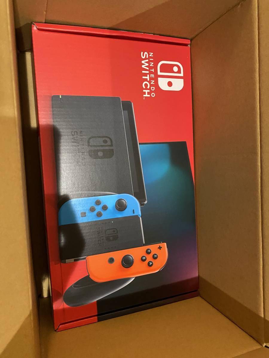新品 送料無料 Nintendo Switch ニンテンドースイッチ ネオンブルー ネオンレッド 店舗印無し Joy-Con (L) 任天堂 本体 グレー Switch _画像1