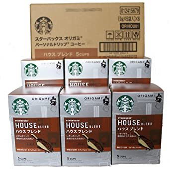 スターバックス 「Starbucks(R)」 ハウスブレンド (箱)オリガミ パーソナルドリップ コーヒー (5袋入)&time_画像1