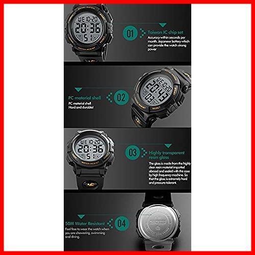 2G 新品 新品Timever(タイムエバー)デジタル腕時計 スポーツウォッチ watch 防水腕時計 在庫限り 在庫限り アラーム メンズ led 1T_画像6