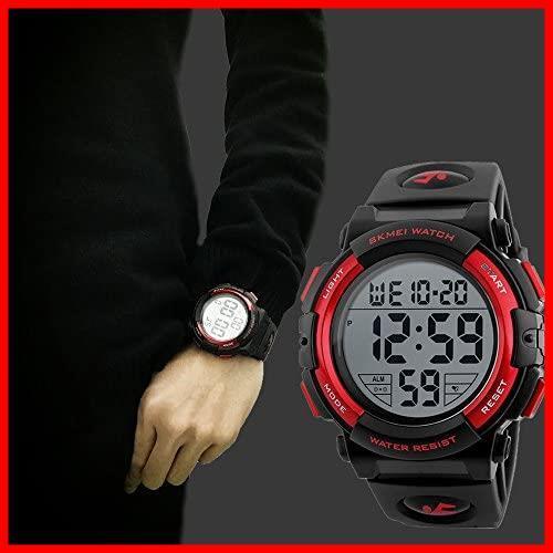 2G 新品 新品Timever(タイムエバー)デジタル腕時計 スポーツウォッチ watch 防水腕時計 在庫限り 在庫限り アラーム メンズ led 1T_画像4