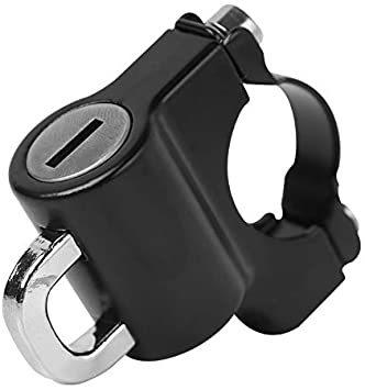 汎用 ヘルメットロック ヘルメットホルダー バイク ハンドル スクーター パイプ 防犯 鍵 キー 盗難防止 直径 22mm 22_画像2