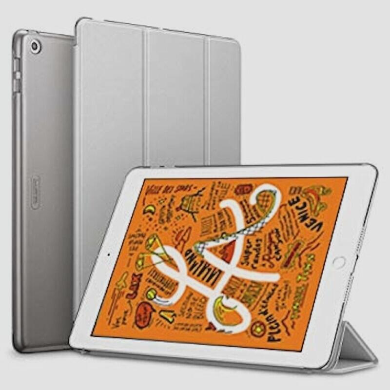 送料無料★ESR iPad Mini 5 2019 ケース 軽量 薄型 PU レザー スマート カバー 耐衝撃 傷防止(グレー)_画像1