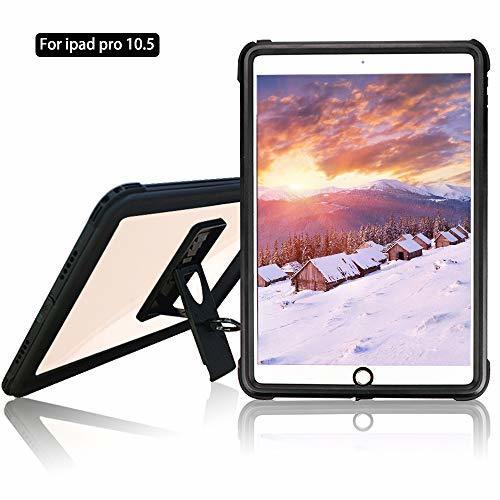 ブラック 10.5インチ iPad Pro 10.5 防水ケース アイパッドカバー 10.5インチ IP68 防水規格 耐衝撃 _画像1
