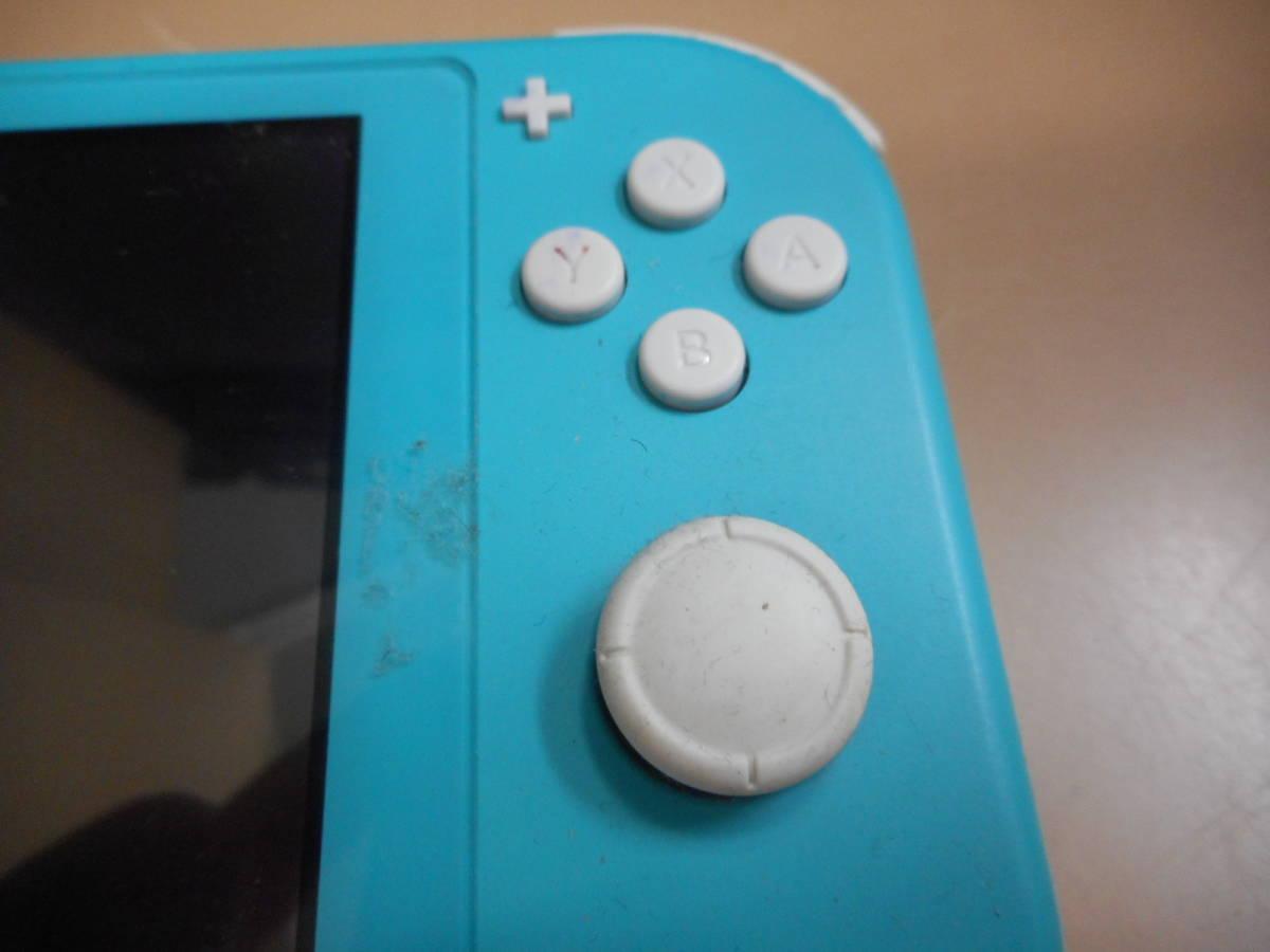 K056[LP][ゲーム機] ジャンク品 ニンテンドー スイッチ ライト ターコイズ/Nintendo Switch Lite/本体のみ 9/24出品_画像3