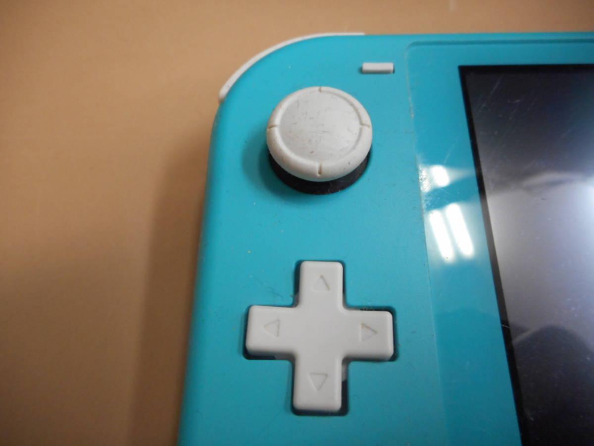 K056[LP][ゲーム機] ジャンク品 ニンテンドー スイッチ ライト ターコイズ/Nintendo Switch Lite/本体のみ 9/24出品_画像2