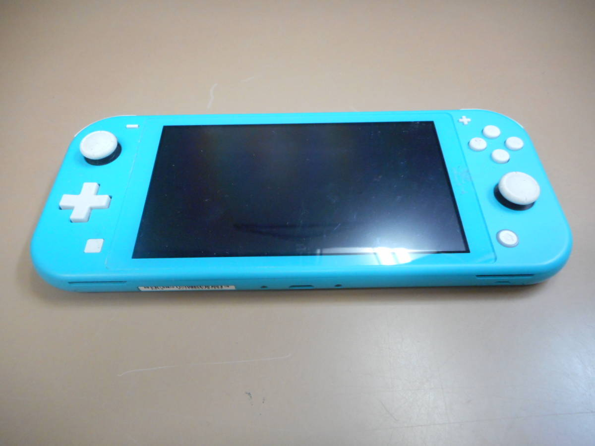 K056[LP][ゲーム機] ジャンク品 ニンテンドー スイッチ ライト ターコイズ/Nintendo Switch Lite/本体のみ 9/24出品_画像1