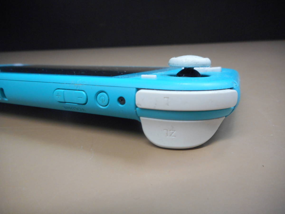 K056[LP][ゲーム機] ジャンク品 ニンテンドー スイッチ ライト ターコイズ/Nintendo Switch Lite/本体のみ 9/24出品_画像5