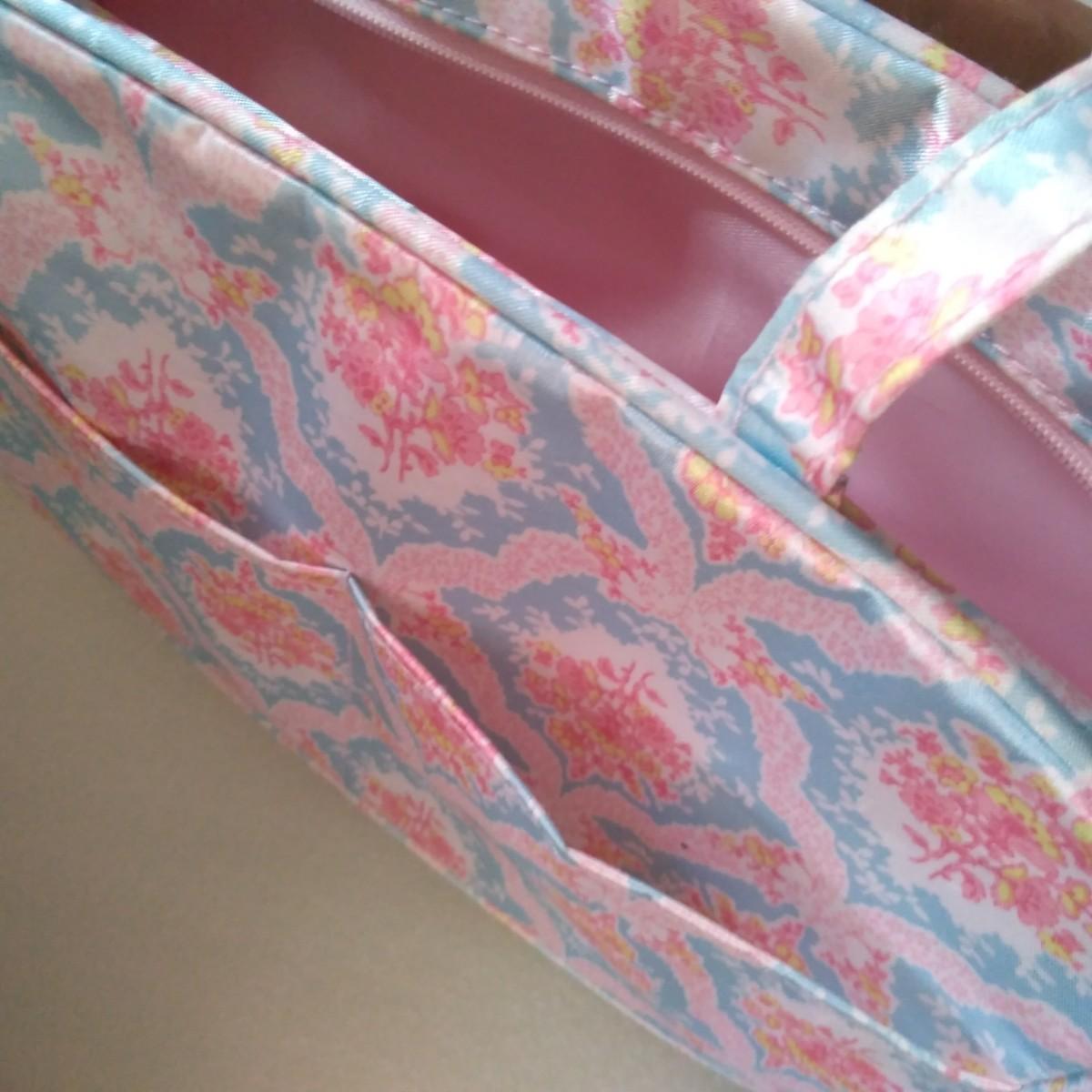 ミニバッグ バッグインバッグ ポーチ 化粧ポーチ マルチケース 花柄 未使用品 MERCURYDUO