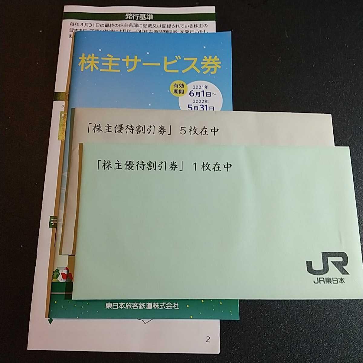 JR東日本 株主優待 割引券 6枚セット+株主サービス券_画像1