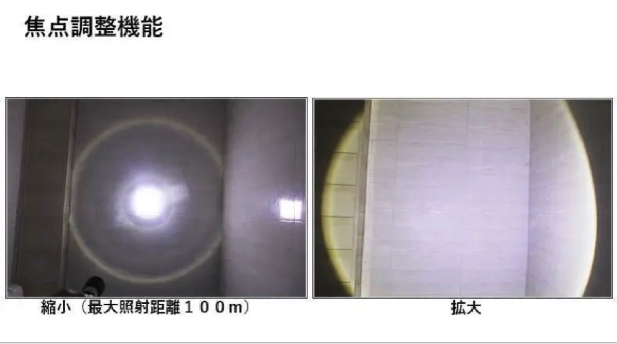 懐中電灯 ハンディライト 作業灯 USB 充電式 LEDライト LED懐中電灯