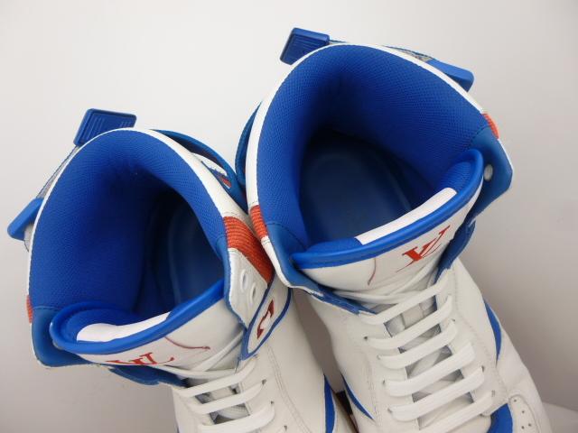 ◆ルイ・ヴィトン◆2019年(正規価格約12万円)◆メンズ/リヴォリ/ハイカット/スニーカー/レザー/シューズ/靴/白革/27cm前後(8)☆★美品★☆_ふわふわ素材が足を優しく包み込みます♪
