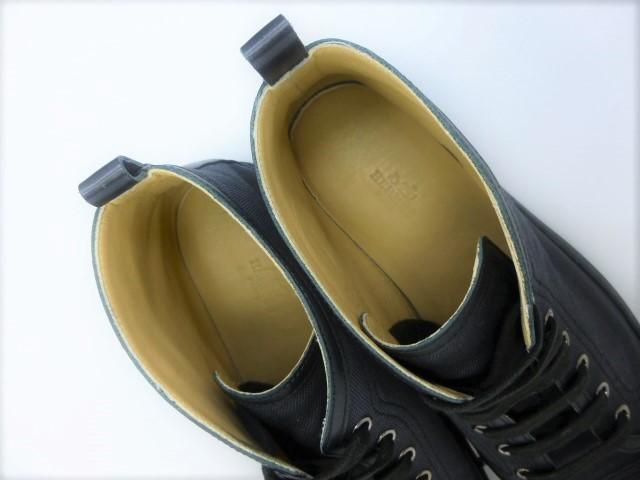 ◆本物保証◆エルメス/HERMES◆秋◆メンズ/セリエ/ハイカット/スニーカー/レザー/キャンパス/シューズ/靴/くつ/26.5~27㎝☆★極美品★☆_総革仕立てのインナーが足を包みます♪