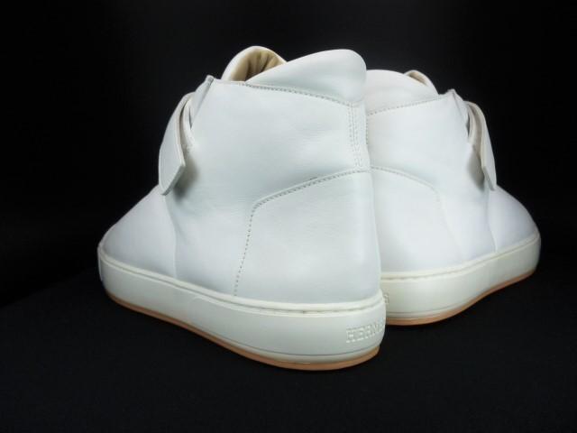 ◆本物保証◆エルメス◆HERMES◆メンズ/ハイカット/スニーカー/レザー/シューズ/靴/革靴/ホワイト/白革/くつ/27㎝前後(43)☆★新品同様★☆_靴ベラ着用でヒールに型崩れもありません。