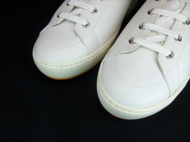 ◆本物保証◆エルメス◆HERMES◆メンズ/ハイカット/スニーカー/レザー/シューズ/靴/革靴/ホワイト/白革/くつ/27㎝前後(43)☆★新品同様★☆_カーフスキン仕立ての最高級品です。