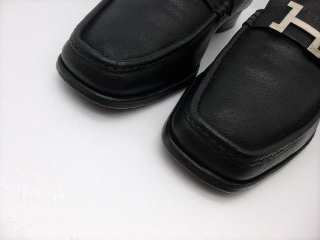 ■本物保証■エルメス/hermes/メンズ/カチカチ/ビジネス/ローファー/ドレス/モカシン/レザー/シューズ/靴/革靴/黒/27~27.5cm★☆美品☆_熟練職人が手縫いで仕上げた逸品です。