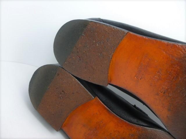 ■本物保証■エルメス/hermes/メンズ/カチカチ/ビジネス/ローファー/ドレス/モカシン/レザー/シューズ/靴/革靴/黒/27~27.5cm★☆美品☆_HERMESオレンジの綺麗なソールです。