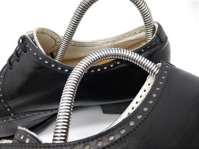◆本物保証◆エルメス■hermes■通気仕様■メンズ/ビジネス/ウイングチップ/ドレス/レザー/シューズ/靴/革靴/黒革/26.5~27cm★☆良品☆★_美しいパンチングデザインが通気を実現♪