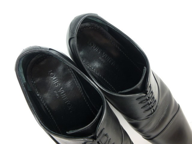 ★本物保証★ルイ・ヴィトン★メンズ/ビジネス/ドレス/ストレートチップ/シューズ/靴/革靴/くつ/黒/ブラック/26~26.5㎝☆★美品★☆_総革仕立てのインナーが足を包みます。