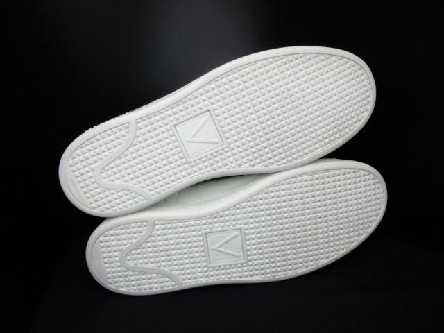 ◆本物保証◆ルイ・ヴィトン◆メンズ/クロコダイル/スニーカー/ドレス/シューズ/ホワイト/白革/レザー/くつ/革靴/26.5~27㎝☆★美品★☆_大切に着用された綺麗なソール状態です。