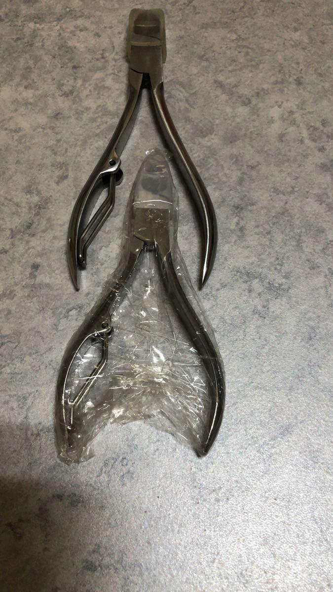 ステンレス 爪切り ニッパー式 ネイルクリッパー ネイルニッパー 甘皮処理 身だしなみ用品 巻き爪 厚い爪 変形爪