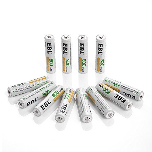 単4形充電池800mAH*12 EBL 単4形充電池 充電式ニッケル水素電池 12個入 ケース付き(容量800mAh、約1200_画像1