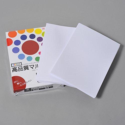 コピー用紙 A4 高品質マルチ用紙 白色度98% 紙厚0.106mm インクジェット用紙 500枚_画像2