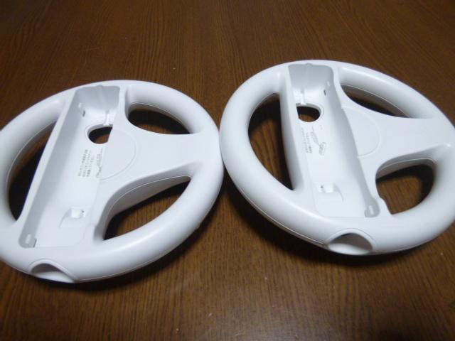 HR005【即日配送 送料無料 動作確認済】Wii マリオカートWii ソフト ハンドル 2個セット