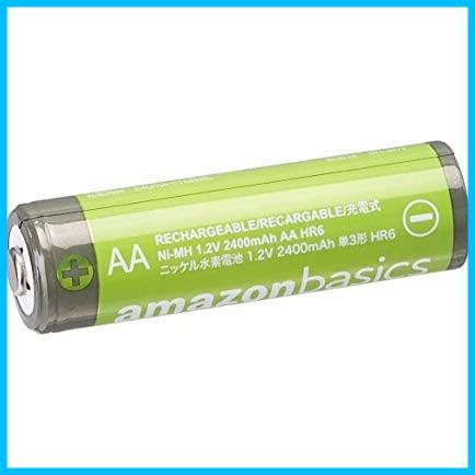 Amazonベーシック 充電池 高容量充電式ニッケル水素電池単3形4個セット (充電済み、最小容量 2400mAh、約500回使用可能)_画像3