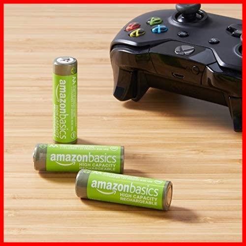 Amazonベーシック 充電池 高容量充電式ニッケル水素電池単3形4個セット (充電済み、最小容量 2400mAh、約500回使用可能)_画像7