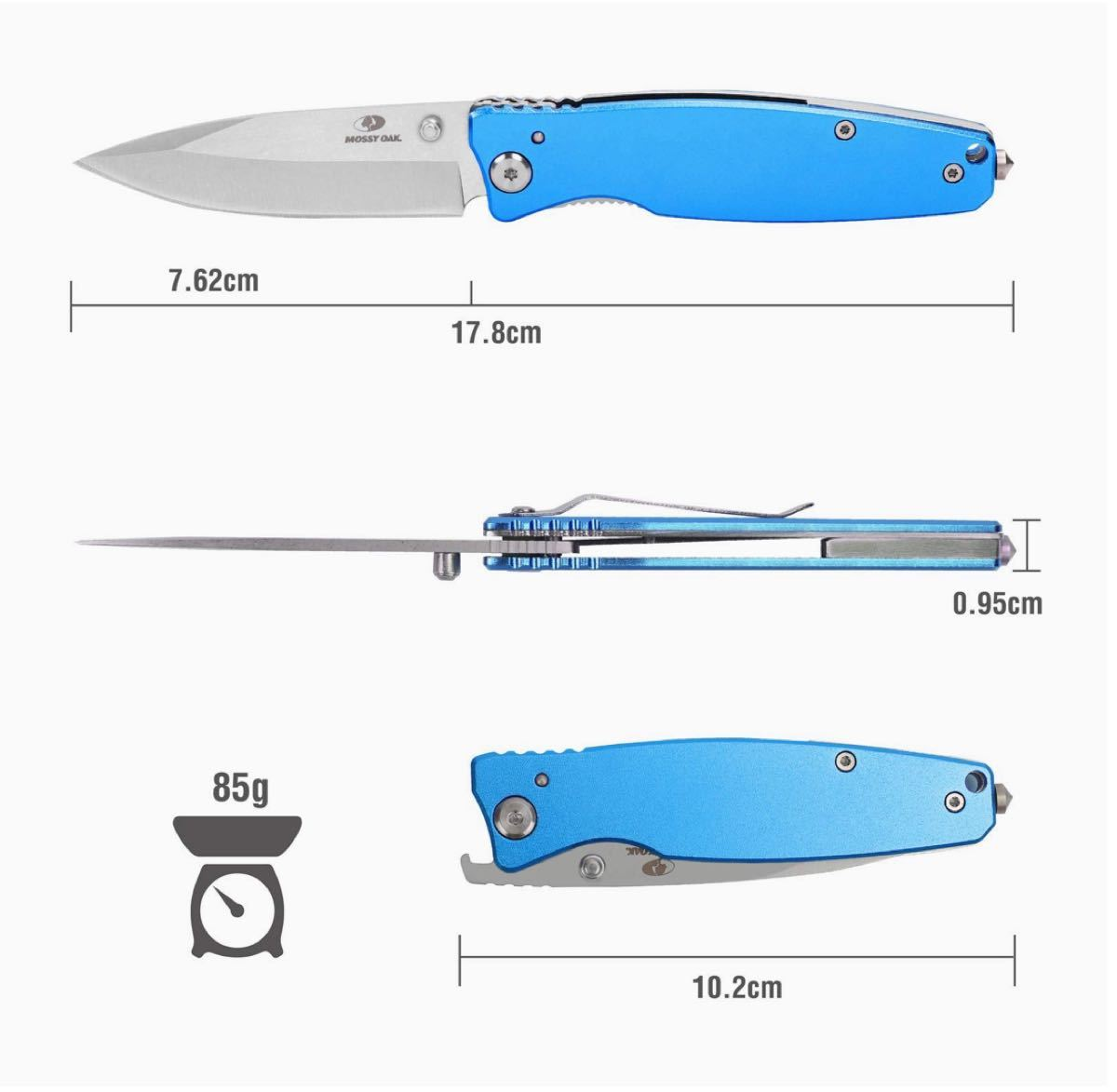 【新品】MOSSY OAK 折りたたみナイフ フォールディングナイフ